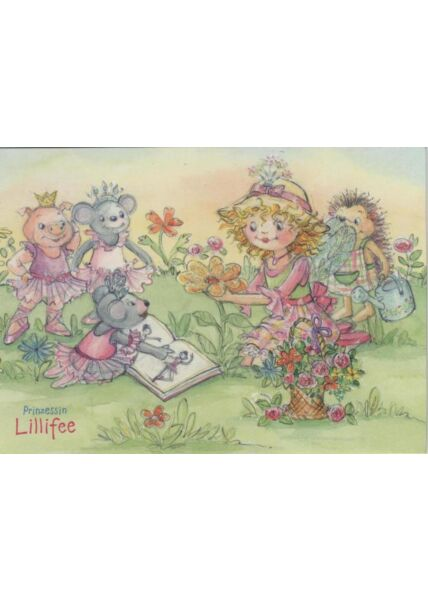 Witzige Postkarte: Prinzessin Lillifee