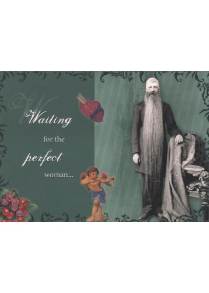 Retro Postkarte: Waiting for the perfect woman