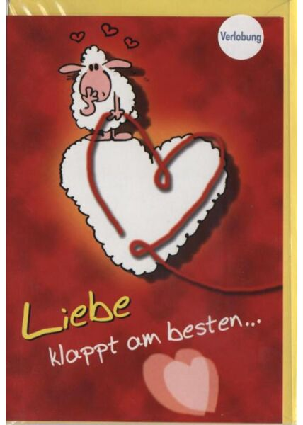 Klassische Doppelkarte: Liebe klappt am besten...