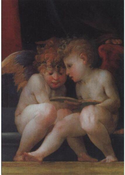 Schöne Postkarte: Madonna mit Heiligen und Kind