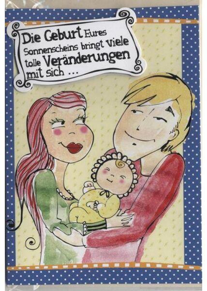 Schöne Doppelkarte: Alles Liebe und Gute zum Baby