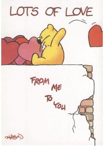 Jan Vis Cartoon Postkarte: Lots of Love