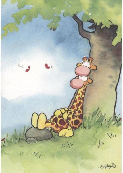Jan Vis Cartoon Postkarte: Umarmung