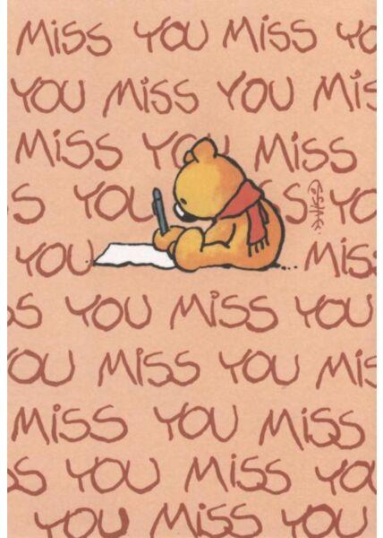 Jan Vis Cartoon Postkarte: Miss You