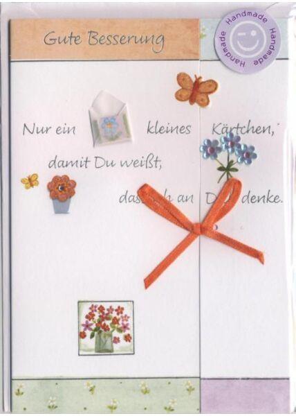Genesungskarte handmade: Gute Besserung!