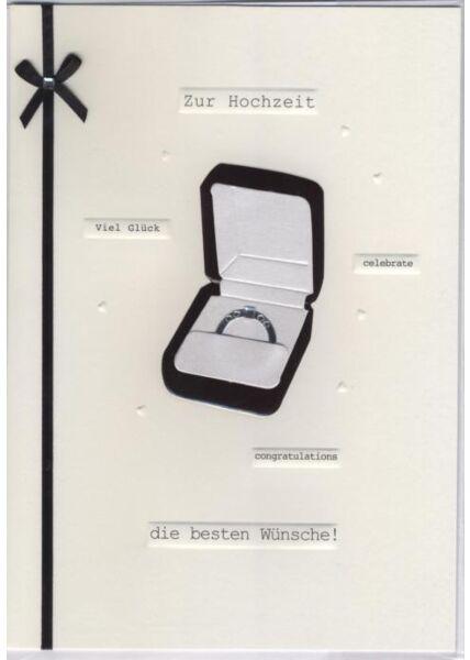 Hochwertige Maxi Glückwunschkarte: Zur Hochzeit die besten Wünsche!