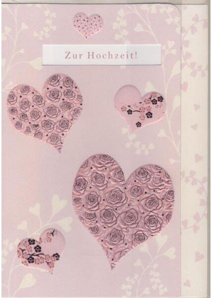 Hochwertige A4 XL Maxi Glückwunschkarte Hochzeit: Zur Hochzeit