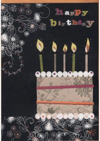 Hochwertige A4 XL Maxi Geburtstagskarte: Happy Birthday