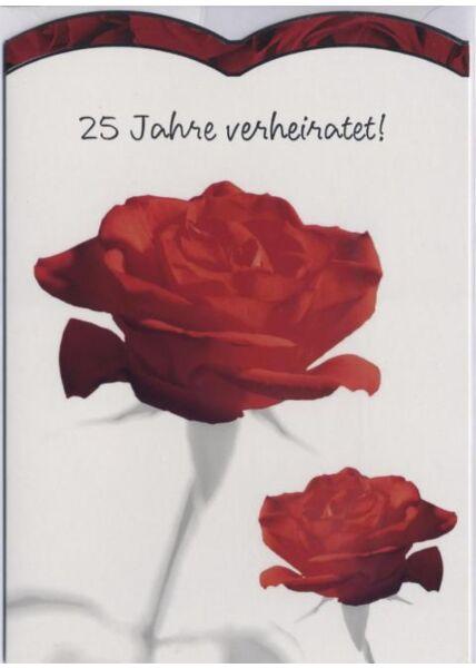 Glückwunschkarte Silberhochzeit: 25 Jahre verheiratet!