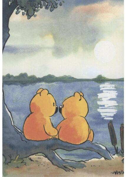 Jan Vis Cartoon Postkarte Liebe: See
