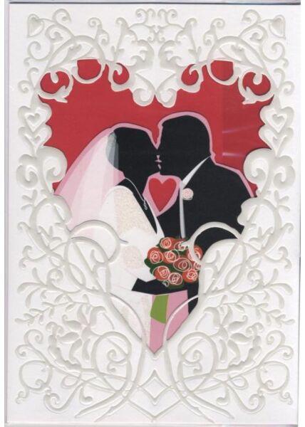 Maxi Pop-Up Hochzeitskarte: Zur Hochzeit alles Gute