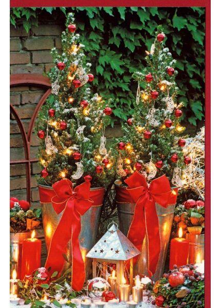 Karte Weihnachten Garten Deko Weihnachten