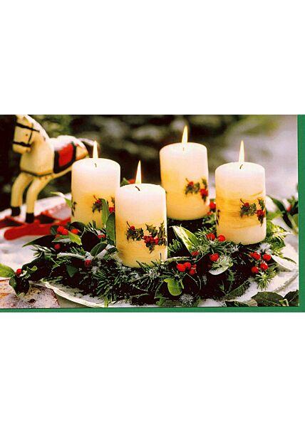 Weihnachten Karte klassisch Adventskranz