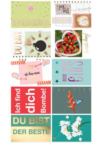 10er Postkarten Set Liebe Cityproducts hochwertig