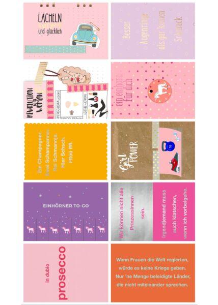 10er Postkarten Set Sprüche Frauen Cityproducts hochwertig