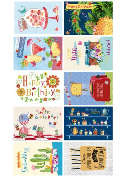 10er Postkarten Set Geburtstagskarten Gutsch PAPELINO