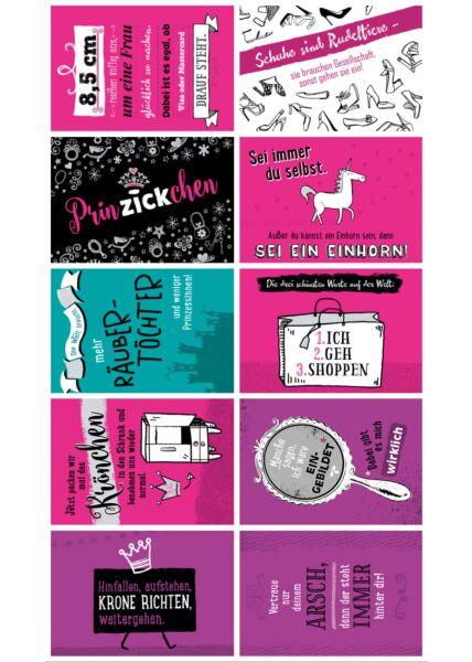 10er Postkarten Set Sprüche humorvoll Gutsch Kollektion Klare Worte