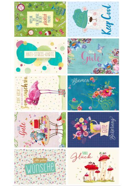 10er Postkarten Set Sprüche humorvoll Gutsch PAPELINO