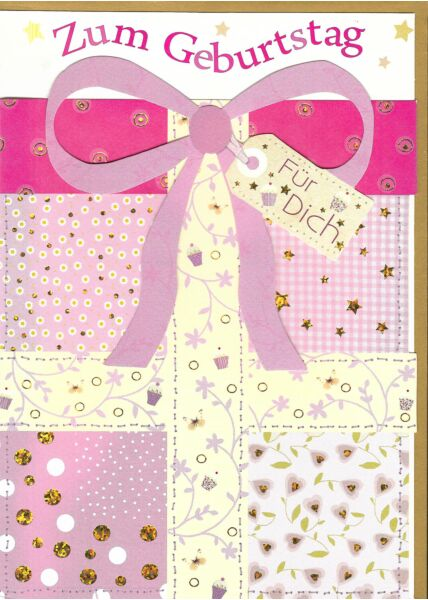Maxi Geburtstagskarte: Zum Geburtstag für Dich