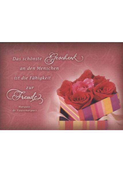 """Foto Postkarte Spruch: """"Das schönste Geschenk an den Menschen..."""""""