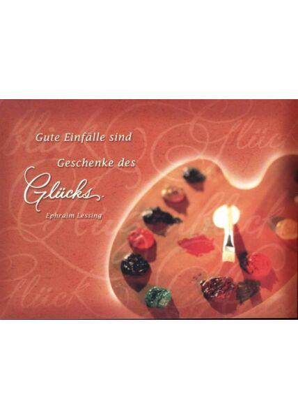 """Foto Postkarte Spruch: """"Gute Einfälle sind Geschenke des Glücks"""""""