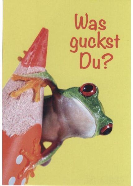 Tierpostkarte lustig: Was guckst Du?