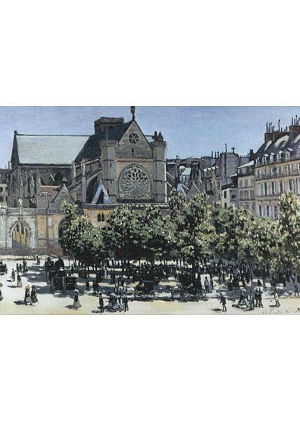 Kunst Postkarte: Claude Monet, Die Kirche Saint - Germain - I Auxerrois, 1866