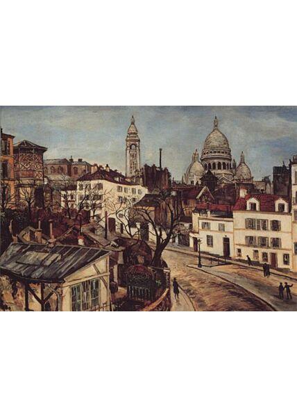 Kunst Postkarte: Marcel Leprin, Place Jean-Baptiste Clement, Paris