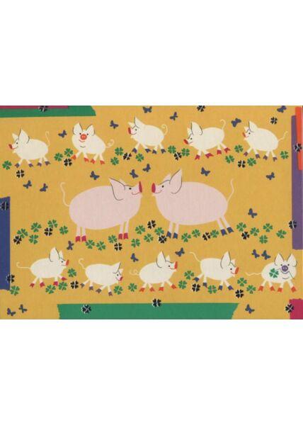 Turnowsky´s Art Postkarte: Schweine