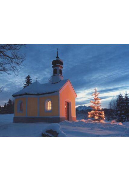 Weihnachtspostkarte blanko: Kapelle