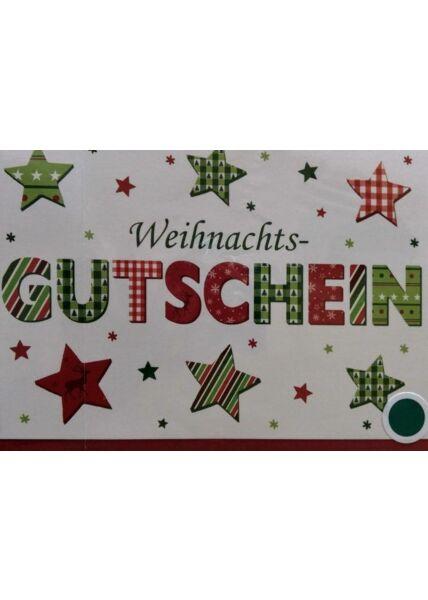Weihnachtskarte: Weihnachtsgutschein
