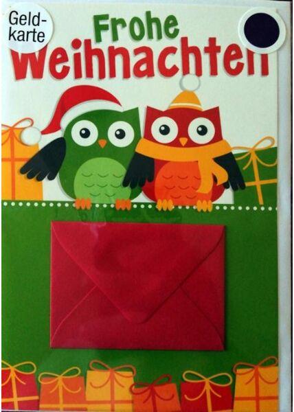 Weihnachtskarte mit Geldfach: Frohe Weihnachten