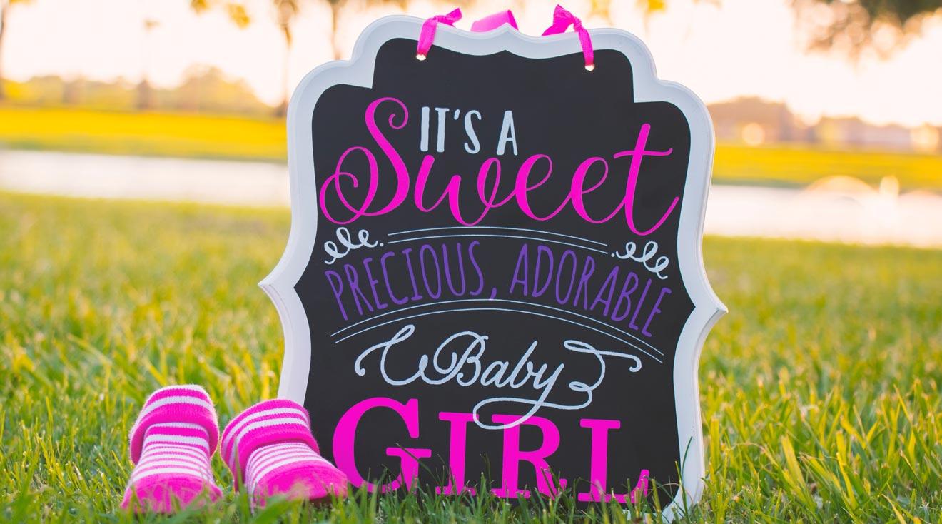 Glückwunschkarte zur Geburt eines Babys schreiben